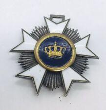 World War 1 Sterling Silver Belgian Order Of The Crown Belgium Enamel Medal