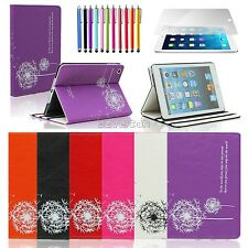 Flower Dandelion Leather Flip Pouch Stand Case Cover For iPad Mini 1 2 3 Kids