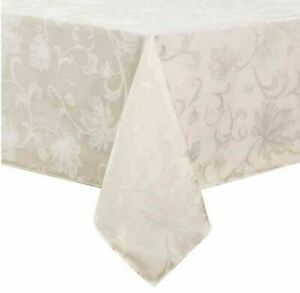 Autumn Vine Damask Tablecloth in Ivory - Choice of Sizes