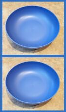 Set of 2 NEW Room Essentials Blue Plastic Dinner Bowls Microwave Dishwasher Safe