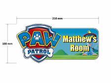 Paw Patrol Shield Door Plaque - Personalised Childrens Bedroom Sign Boys Girls