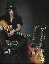 Guns N' Roses Slash Gibson Les Paul Guitar Collection 8 x 11 pin-up photo print