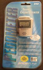 2003 Sportline Talking Calorie Counter Pedometer Model 343 Basic Series NEW