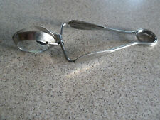 Vintage small INOX stainless steel SERVING TONGS from Sweden