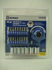 New KOBALT  26 PC Palm Ratchet Set  1/4 IN Drive
