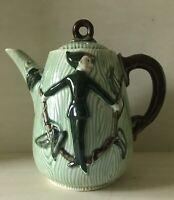 Vintage L Batlin & Sons Tea Pot Jack and the Beanstalk Elf Pixie Green Pottery