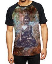 Buda Tibetano patrón mandala Para hombres Camiseta De Béisbol Todo-yoga budista