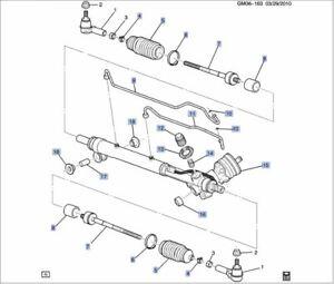 GENUINE GM CADILLAC XLR 04-06 STEERING GEAR/RACK ASSEMBLY 88952522