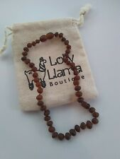 """Raw Amber Necklace (Unisex) Alternative Pain Relief for Babies 11"""""""