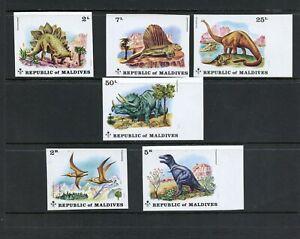 Y984  Maldives  1972  dinosaurs   IMPERF   6v.    MNH