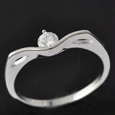 White Gold Filled Great Gift Size 6 Cubic Zirconia Round Cut Wedding Ring