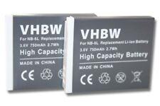 2x BATERÍA para CANON POWERSHOT D10 SX270 HS SX500 IS SD770 es ACCU