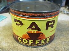 P.A.R 1 LB COFFEE CAN STORE TIN GENERAL FOODS ORIGINAL KEY WEIND USA