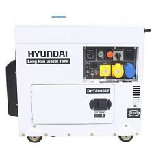 Hyundai Diesel 6kw Silenced Long Run Electric Start Generator