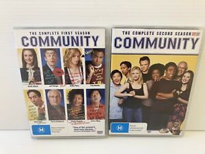 COMMUNITY Comedy Television Series DVD Seasons 1 & 2 : VGC : FREE POST!