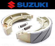 Set of (2) Suzuki Water Grooved FRONT Brake Shoes and Springs #54401-07810