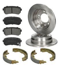 Braking set rear 4x brake pads + 2x brake discs 4x brake shoes Hyundai i30 Kia