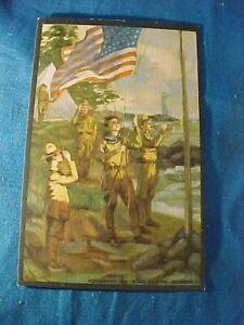 1914 SCOUT GUM Co Postcard # 11-BOY SCOUTS FLAG SALUTE by HC EDWARDS