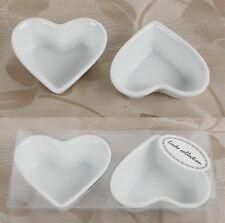 4 x Dipschale Herz Porzellanschale Schälchen Dekoschälchen Beilagenschale