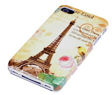 Schutzhülle f Apple iPhone 4S 4 4G Case Tasche Cover Schutz Paris Eiffelturm
