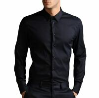 Mens trendy  black casual shirt, 97% cotton rich, Small/medium XL/2XL NEW