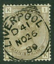 SG 154 4d grey brown WMK garter. Very fine used with a Liverpool CDS, Nov 26...