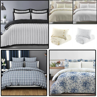 100% Cotton Easy Care Duvet Quilt Cover Multicoloured NEW Bedding Set