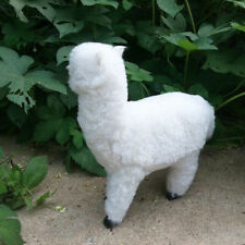 Simulation Animal Alpaca Toy Fur& Polyethylene White Sheep Model Home Decor Gift