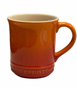 Le Creuset Coffee Tea Mug 12 oz Orange Flame Stoneware