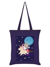 Unicorn Space Race Purple Tote Bag 38x42cm