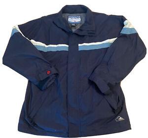 Quiksilver Boardwear Mens Medium Snowboard Ski Hooded Jacket Blue Full Zip