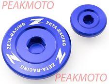 ZETA ZE89-1412 Engine Plugs Blue Yamaha YZ250F 01-13, YZ400F YZ426F YZ450F 98-05