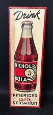 VINTAGE ADVERTISING TIN SIGN FOR NICHOL KOLA  DRINK SODA