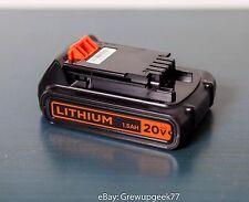 BLACK & DECKER GENUINE LBXR20 20v MAX 1.5 AH Lithium-Ion BATTERY NEW OEM