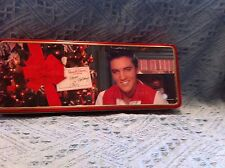 """NOS 1996 ELVIS PRESLEY """"CHRISTMAS TREE RED/WHITE SHIRT"""" RUSSELL STOVER CANDY TIN"""