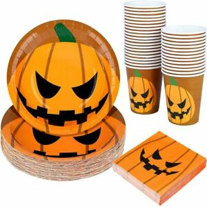 Halloween Party Scary Pumpkin Tableware Disposable Dinnerware for Party Supplies