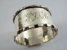 Vintage Sterling Silver - NAPKIN or Serviette RING - Monogrammed - Chester