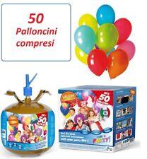 BOMBOLA GAS ELIO (PER 50 PALLONCINI) + 50 PALLONCINI BIANCHI O MULTICOLOR