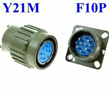 22mm F 10P Electrical Connector Military PLUG Female Receptacle + BASE Male Pin