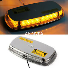 Car Roof  Strobe Light Bar  Flashing Warning Hazard Beacon Mini AMBER 24 LED