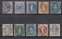 R4133/ SWITZERLAND – 1882 / 1907 USED CLASSIC LOT – CV 330 $