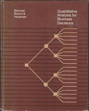Quantitative Analysis For Business Decisions Model Building Inventory 1981 Stati
