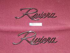 71 72 73 BUICK RIVIERA FRONT FENDER SCRIPT 1971 1972 1973 NEW EMBLEM BADGE GS