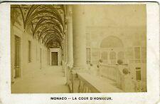PHOTO grande CDV MONACO la cour d'honneur circa 1890