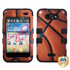 For LG Motion 4G / Optimus Regard IMPACT TUFF HYBRID Case Phone Cover Basketball