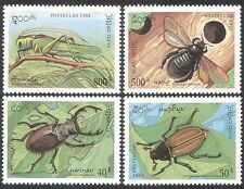 Laos 1995 Insects/Beetles/Grasshopper 4v set ref:b8120