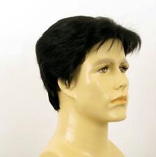 Perruque homme 100% cheveux naturel noir ref JACK 1b