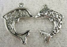 50pcs Tibetan Silver dolphin charms FC8496