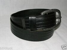New Men's Mark Ecko Leather Casual Dress Belt, Black, Size 33.5, Medium