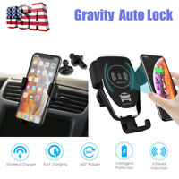 Gravity Car Air Vent  Mount  Wireless QI Charger Phone GPS Holder Stand Cradle